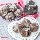 Chocolate Crinkles de post / Vegan chocolate crinkles