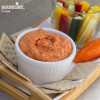 Humus cu ardei copti / Roasted red pepper hummus