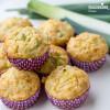 Briose aperitiv cu praz / Savory leek muffins