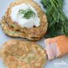 Clatite cu somon / Salmon pancakes