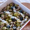 Varza de Bruxelles si ciuperci la cuptor / Roasted Brussels sprouts and mushrooms