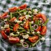 Salata de fasole verde si rosii / Green beans & tomato salad