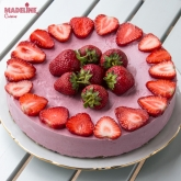 Cheesecake raw cu capsuni / Raw strawberry cheesecake