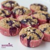 Briose cu banane, afine si ovaz / Banana blueberry oatmeal muffins
