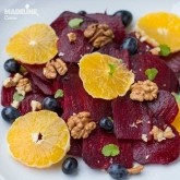 Salata de sfecla rosie, portocale si nuci / Beetroot, orange & walnut salad
