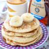Clatite pufoase cu banane pentru copii / Toddler banana pancakes