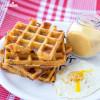 Gaufre cu malai / Cornmeal waffles