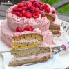 Tort cu zmeura si mascarpone / Raspberry mascarpone cake