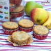 Briose cu banane, mere si pere / Apple, pear & banana muffins