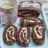 Rulada keto cu ciocolata / Keto chocolate roll