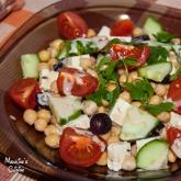 Salata de naut cu tofu / Chickpeas and tofu salad