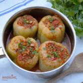 Ardei umpluti cu fasole Mung / Mung beans stuffed bell peppers