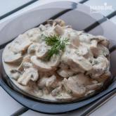 Ciuperci cu smantana de caju / Mushrooms with cashew sour cream