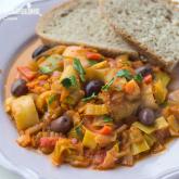 Mancare de praz cu masline / Leek & olive stew