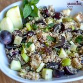 Salata de quinoa, mere si struguri / Quinoa, grape & apple salad