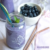Smoothie low carb cu afine / Low carb blueberry smoothie