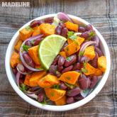 Salata de cartofi dulci si fasole / Sweet potato & bean salad