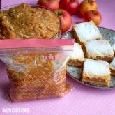 Mere rase congelate pentru placinta / Freezer apple pie filling