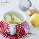 Ceai cu ghimbir, lamaie si menta / Ginger, lemon and mint tea