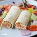 Lipii cu somon afumat / Smoked salmon wraps