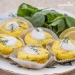 Briose cu somon afumat si marar / Smoked salmon & dill muffins