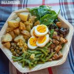 Salata de cartofi, spanac si oua / Potato, spinach and egg salad