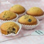 Briose cu afine si ciocolata alba / White chocolate blueberry muffins