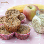 Briose dietetice cu mere, banane si ovaz / Diet apple, banana and oat muffins