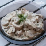 Ciuperci cu smantana de caju / Mushrooms with cashew cream