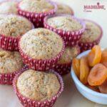 Briose cu morcovi si caise / Carrot & apricot muffins