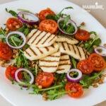 Salata de linte si halloumi / Lentil & halloumi salad