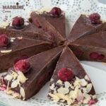 Tort raw de ciocolata si visine / Raw chocolate sour cherry cake