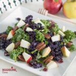 Salata de kale, mar si merisoare / Kale, apple & cranberry salad