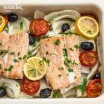 Somon cu fenicul la cuptor / Baked salmon with fennel