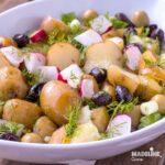 Salata de cartofi noi / New potato salad