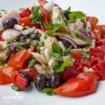 Salata de ton si ardei copti / Tuna & roasted pepper salad