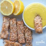 Crochete de peste in crusta de migdale / Almond crust fish fingers