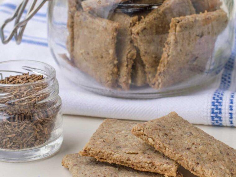 Crackers cu susan si chimen/ Cumin sesame crackers