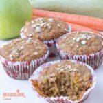 Briose cu mere, morcovi si dovlecei / Apple, carrot and courgette muffins