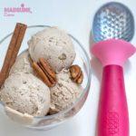 Inghetata raw de scortisoara si nuci pecan/ Raw cinnamon & pecan ice cream