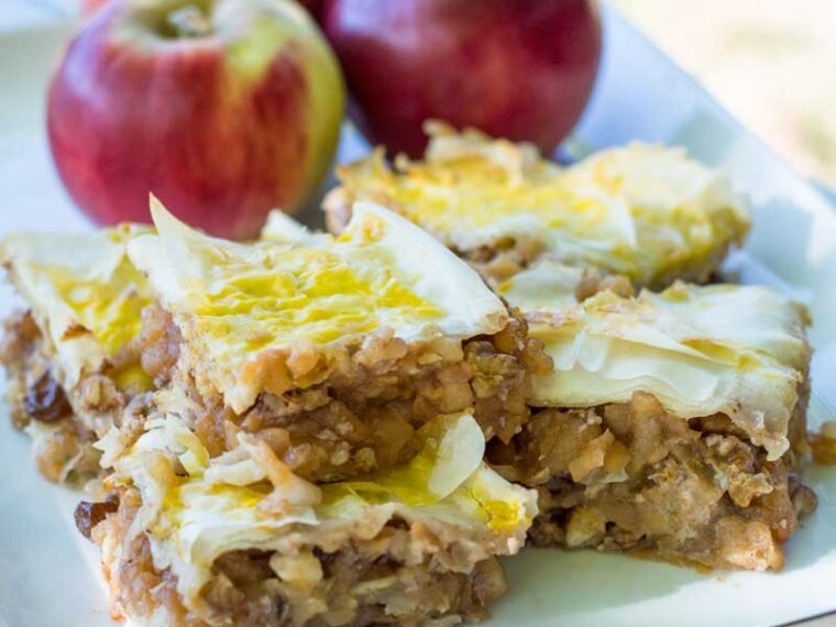 Placinta cu mere si nuca / Apple walnut pie
