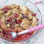 Crumble de mere si merisoare / Apple cranberry crumble