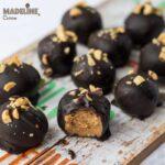 Bomboane cu unt de arahide si ciocolata / Chocolate peanut butter balls