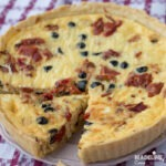 Tarta cu pui si ardei copti / Chicken & roasted pepper quiche