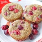 Briose cu merisoare si banane / Banana cranberry muffins
