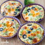 Mini tarte cu broccoli si somon / Broccoli salmon mini quiches