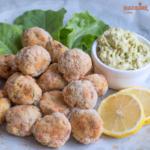 Chiftelute de somon la cuptor / Baked salmon meatballs