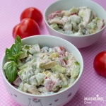 Salata de pui, avocado si iaurt / Chicken, avocado & yogurt salad