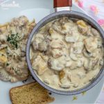 Pui cremos cu ciuperci si  parmezan / Creamy Parmesan mushroom chicken