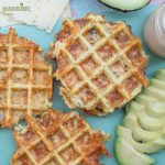 Gaufre cu conopida si branza / Cauliflower cheese waffles